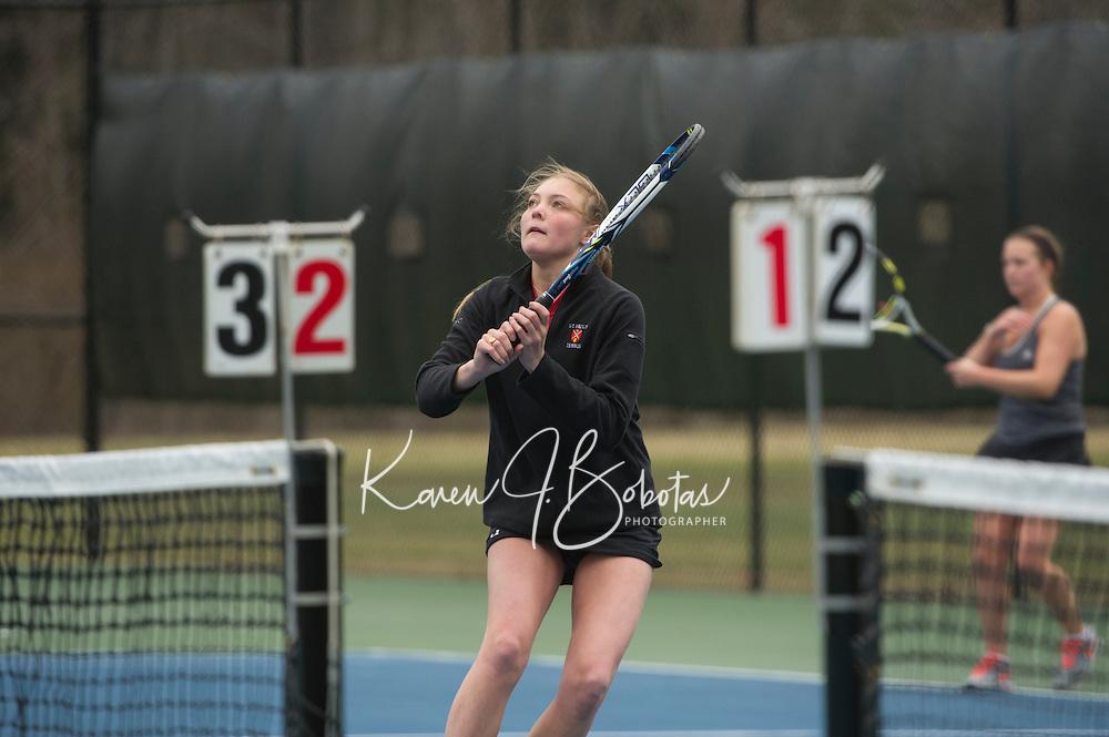 St Paul's School varsity girls Tennis.  ©2015 Karen Bobotas Photographer