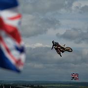 Austrian EMX250 rider, Michael Sandner, during Saturday's warm up.