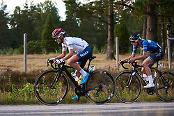 Ashleigh Moolman Pasio (RSA) and Emilia Fahlin (SWE) at Postnord Vårgårda West Sweden Road Race 2018, a 141 km road race in Vårgårda, Sweden on August 13, 2018. Photo by Sean Robinson/velofocus.com