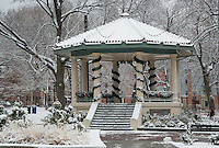 The Gazebo at Washington Park in the snow