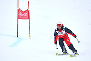 """Schladming, Austria - 2017 March 19: Ann-Katrin Robinson from Germany (151) competes in Alpine Skiing Competition while Special Olympics World Winter Games Austria 2017 on the """"Sepp-Walcher-Downhill""""<br /> (Slope 32) near the """"Tauernalm"""" in Rohrmoos on March 19, 2017 in Schladming, Austria.<br /> <br /> Mandatory credit:<br /> Photo by © Adam Nurkiewicz / Mediasport<br /> <br /> Adam Nurkiewicz declares that he has no rights to the image of people at the photographs of his authorship.<br /> <br /> Picture also available in RAW (NEF) or TIFF format on special request.<br /> <br /> Any editorial, commercial or promotional use requires written permission from the author of image.<br /> <br /> Image can be used in the press when the method of use and the signature does not hurt people on the picture."""