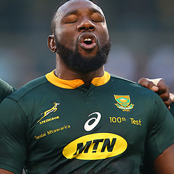 Tendai Mtawarira of South Africa on his 100th cap during the 2018 Castle Lager Incoming Series 2nd Test match between South Africa and England at the Toyota Stadium.Bloemfontein,South Africa. 16,06,2018 Photo by (Steve Haag JMP)