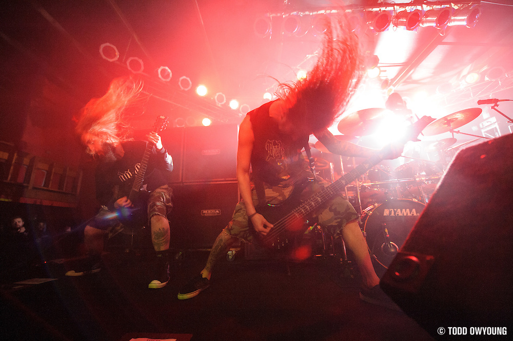 Suicide Silence performing in support of Machine Head at Pop's on January 17, 2012.
