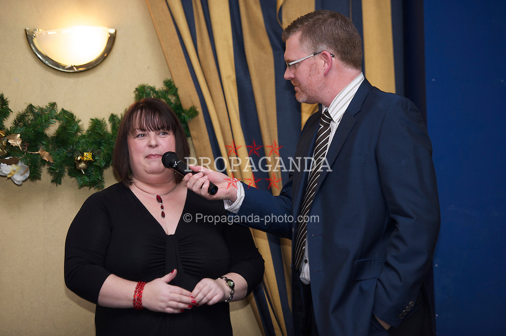 LIVERPOOL, ENGLAND - Friday, November 26, 2010: Barclays' Sharon Rothwell during a Health Through Sport Charity Dinner at the Devonshire House. (Photo by David Rawcliffe/Propaganda)