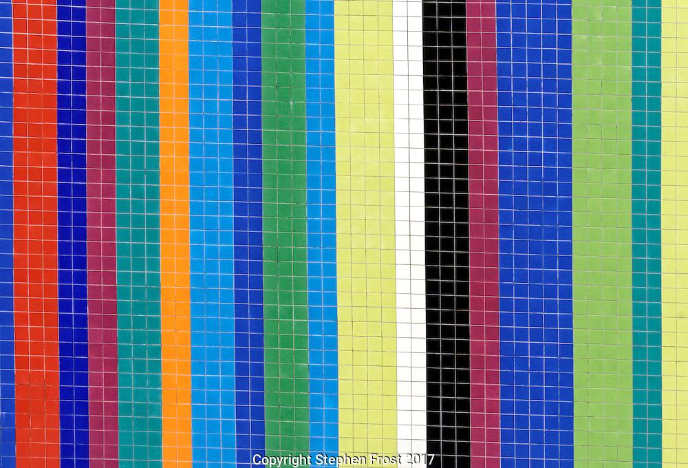 Vertical Coloured Tile Pattern