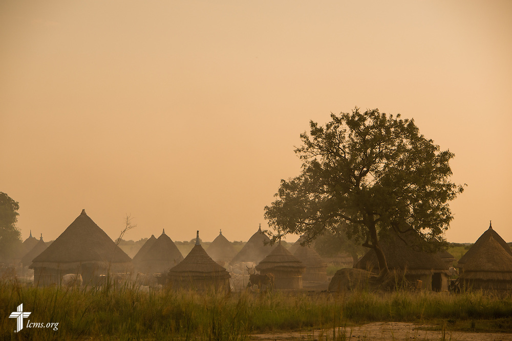 A village is steeped in dust on Wednesday, Sept. 23, 2015, outside the Leitchour Refugee Camp outside Gambela, Ethiopia. LCMS Communications/Erik M. Lunsford