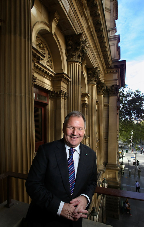 Melbourne Lord Mayor Robert Doyle on the Portico at the Town Hall 17/03/2010 Pic By Craig Sillitoe SPECIAL 000 melbourne photographers, commercial photographers, industrial photographers, corporate photographer, architectural photographers, This photograph can be used for non commercial uses with attribution. Credit: Craig Sillitoe Photography / http://www.csillitoe.com<br />