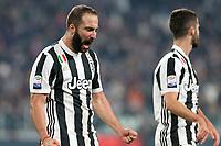 25.10.2017 - Torino - Serie A 2017/18 - 10a giornata  -  Juventus-Spal nella  foto: Gonzalo Higuain  esulta dopo il gol del 3 a 1
