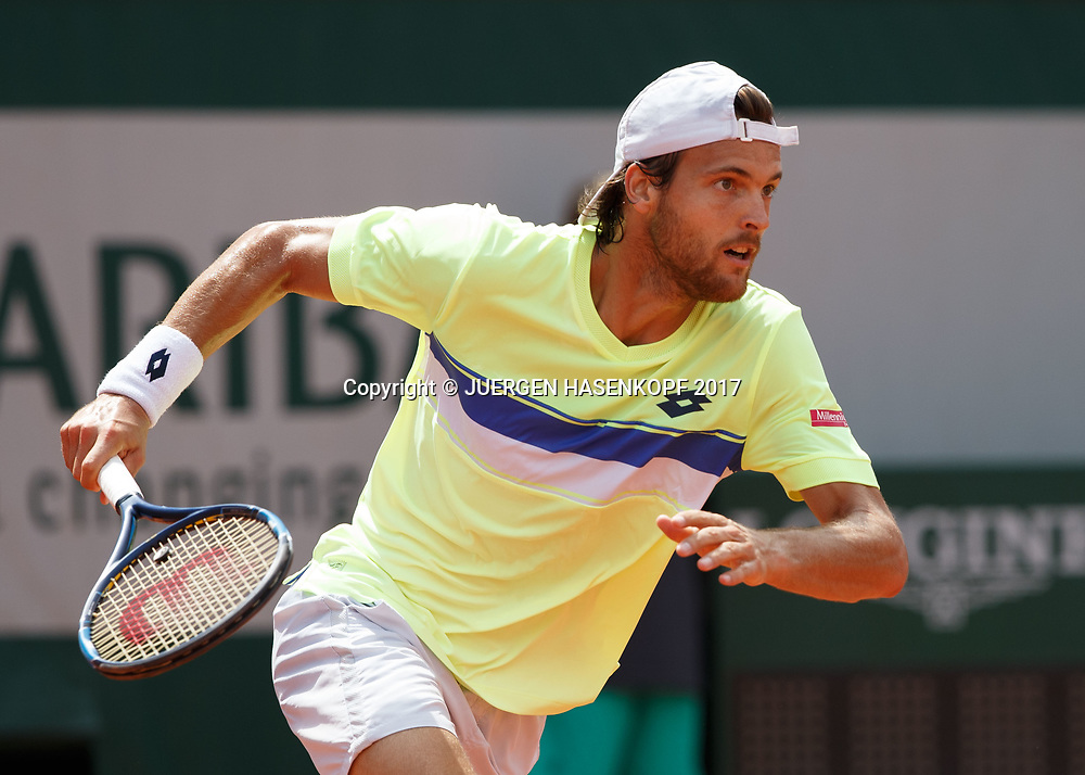 JOAO SOUSA (POR)<br /> <br /> Tennis - French Open 2017 - Grand Slam ATP / WTA -  Roland Garros - Paris -  - France  - 31 May 2017.