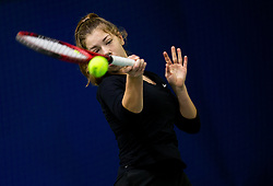 Pia Marija Rebec in action during Slovenian National Tennis Championship 2019, on December 21, 2019 in Medvode, Slovenia. Photo by Vid Ponikvar/ Sportida