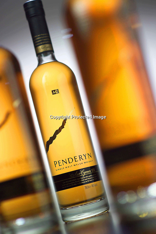 Close up of Penderyn whisky bottles<br />