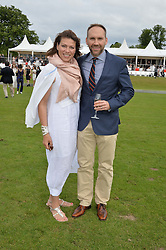 KATE SILVERTON and MIKE HERON at the Audi Polo Challenge at Coworth Park, Blacknest Road, Ascot, Berkshire on 31st May 2015.