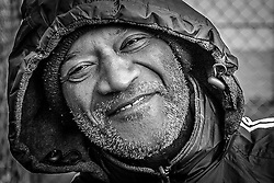 A homeless man asked me to photograph him on Thanksgiving day, Greenwich Village, New York.