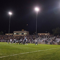 ARVADA - SEPT. 22: Pomona kicks an extra point after a touchdown against Valor Christian under the lights of the North Area Athletic Complex during their Class 5A nonconference high school varsity football game. (Photo by Andy Colwell/ Special to The Denver Post)