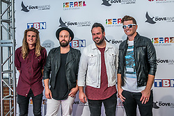 October 11, 2016 - Nashville, Tennessee, USA - Audio Adrenaline at the 47th Annual GMA Dove Awards  in Nashville, TN at Allen Arena on the campus of Lipscomb University.  The GMA Dove Awards is an awards show produced by the Gospel Music Association. (Credit Image: © Jason Walle via ZUMA Wire)