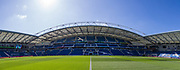 General view of the American Express Community Stadium ahead of the Premier League match between Brighton and Hove Albion and Burnley at the American Express Community Stadium, Brighton and Hove, England on 14 September 2019.