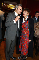 MR ROC SANDFORD and LADY HENRIETTA ROUS at an aution of art inspired by footballer David Beckham in aid of The National Deaf Children's Society and held at Christie's, St.James's, London on 4th November 2004.<br />