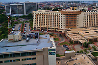 First National Bank, Movenpick Ambassador Hotel & The Octagon (front to back)