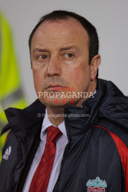 London, England - Tuesday, January 30, 2007: Liverpool's manager Rafael Benitez during the Premiership match Arsenal West Ham United at Upton Park. (Pic by David Rawcliffe/Propaganda)
