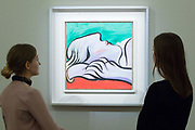 UNITED KINGDOM, London: 09 April 2018 'Le Repos' by Pablo Picasso, 1932 valued at $25-35 Million at the Impressionist and Modern and Contemporary Art preview at Sotheby's. The Impressionist and Modern art sale will be held in New York on 14th May. Sotheby's Impressionist and Modern Art Sale, London, UK- 9 Apr 2018 Rick Findler / Story Picture Agency