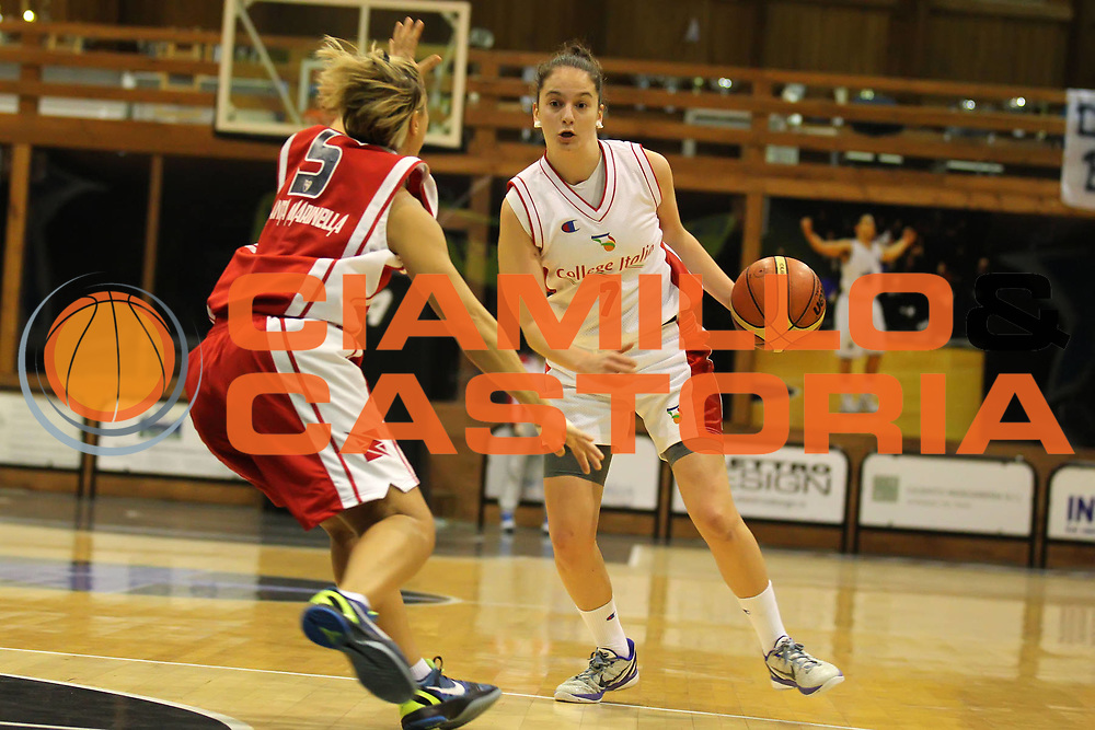 DESCRIZIONE : Roma Basket Campionato Italiano Femminile serie B<br /> 2011-2012<br /> GIOCATORE : Antonia Peresson<br /> SQUADRA : College Italia<br /> EVENTO : College Italia 2011-2012<br /> GARA : College Italia Santa Marinella<br /> DATA : 04/12/2011<br /> CATEGORIA : palleggio<br /> SPORT : Pallacanestro <br /> AUTORE : Agenzia Ciamillo-Castoria/ElioCastoria<br /> Galleria : Fip Nazionali 2011<br /> Fotonotizia : Roma Basket Campionato<br /> Italiano Femminile serie B 2011-2012<br /> Predefinita :