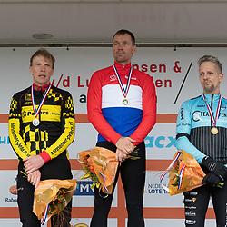 11-01-2020: Wielrennen: NK Veldrijden: Rucphen<br />Podium Master 50+ Erik Dekker, Jan Weevers,  Rene Kuhlman