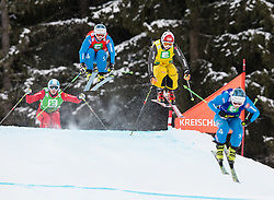 25.01.2014, Kreischberg, St. Georgen, AUT, FIS Weltcup Ski Cross, im Bild Andrea Limbacher (AUT), Christina Staudinger (AUT), Christina Manhard (GER), Priscillia Annen (SUI) // Andrea Limbacher of Austria, Christina Staudinger of Austria, Christina Manhard of Germany, Priscillia Annen of Switzerland in action during the FIS Ski Cross World Cup at the Kreischberg in St. Georgen, Austria on 2014/01/25. EXPA Pictures © 2014, PhotoCredit: EXPA/ Johann Groder