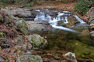 Small waterfall along the Little Pigeon River, Great Smoky Mountains National Park
