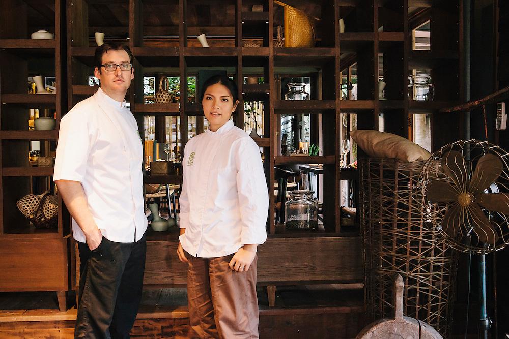 Chefs Duangporn Songvisava (Bo) and Dylan Jones at Bo.lan restaurant