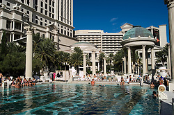 A swimming pool in Las Vegas, Nevada, NV, city, swimming pool at Caesars Palace and Casino, no model release, sunny, Photo nv288-18365..Copyright: Lee Foster, www.fostertravel.com, 510-549-2202,lee@fostertravel.com