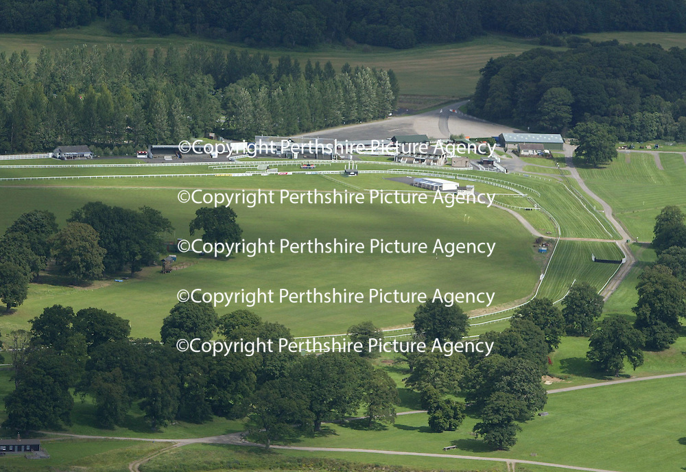An aerial view of Perth Racecourse in the rounds of Scone Palace<br />