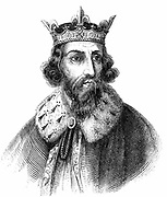 Alfred the Great (849-899) Anglo-Saxon king of Wessex from 871. Defeated Danes at Edington, Wiltshire. Signed treaty of partition and formalisation of Danelaw 886. Engraving c1850