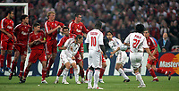 Photo: Paul Thomas.<br /> AC Milan v Liverpool. UEFA Champions League Final. 23/05/2007.<br /> <br /> Andrea Pirlo (21) kicks the ball from a free-kick which is tapped in by Filippo Inzaghi (3rd Right) to put Milano ahead.