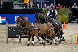 Exell Boyd, NED, Bajnok, Rocket, Demi, Barny<br /> JIM Maastricht 2019<br /> FEI Driving World Cup™ 2019/20 <br /> © Hippo Foto - Dirk Caremans<br />  08/11/2019