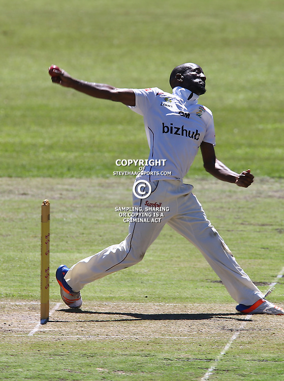 during Day 1 of the Sunfoil Series match between Hollywoodbets Dolphins and the bizhub Highveld Lions at the City Oval, Pietermaritzburg,South Africa. 19th January 2017  - (Photo by Steve Haag)