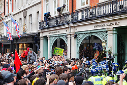 © under license to London News Pictures.  26/03/11 UK uncuts occupy Fortnum & Mason in Piccadilly during the Anti-cuts march in London. Photo credit should read: Olivia Harris/ London News Pictures