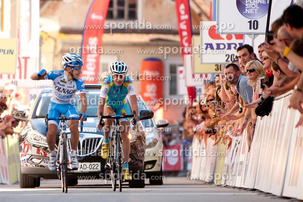 POZZOVIVO Domenico of Colnago and BRAJKOVIC Janez of Astana during 3rd Stage (219 km) at 19th Tour de Slovenie 2012, on June 16, 2012, in Skofja Loka, Slovenia. (Photo by Urban Urbanc / Sportida.com)