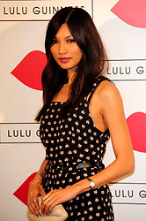 """Lulu Guinness Paint Project.<br /> Gemma Chan attends the """"Lulu Guinness paint project in collaboration with beautiful crime and their artist Joseph Steele"""" Held at the old sorting office, Oxford street,<br /> London, United Kingdom<br /> Thursday, 11th July 2013<br /> Picture by Chris  Joseph / i-Images"""