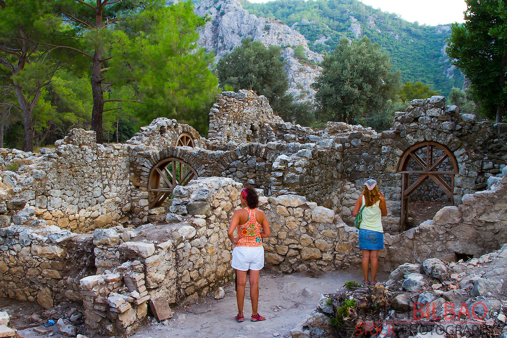Olympos city ruins.  Olympos coastal National Park. Antalya province. Mediterranean coast. Turkey.