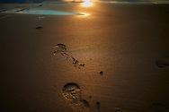 Footprints on the beach, Bizkaia