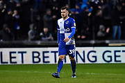Josh Barrett (39) of Bristol Rovers during the EFL Sky Bet League 1 match between Bristol Rovers and Blackpool at the Memorial Stadium, Bristol, England on 15 February 2020.