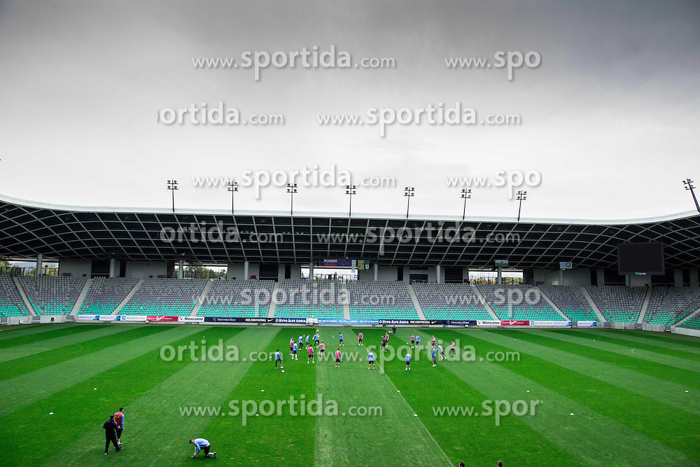 Stadium during practice session of Slovenian National Football team two days before Euro 2016 Qualifying game between Slovenia and Lithuania, on October 7, 2015 in SRC Stozice, Ljubljana Slovenia. Photo by Vid Ponikvar / Sportida