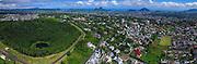 Aerial shot of Mauritius Volcano