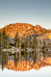"""Paradise Lake 8"" - Photograph of Paradise Lake in the Tahoe area back country, shot just before sunset."