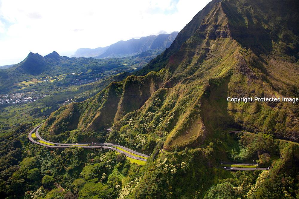 Pali Highway, Koolau Mountains, Oahu, Hawaii