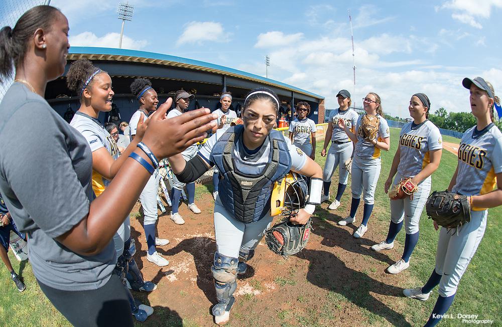 2017 A&T Softball vs Savannah State (Senior Day) \ www.ncataggies.com - Photo by: Kevin L. Dorsey
