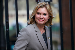 © Licensed to London News Pictures. 20/02/2016. London, UK. International Development Secretary JUSTINE GREENING attending a cabinet meeting in Downing Street on Saturday, 20 February 2016 after a deal made on the UK's EU membership in Brussels. Photo credit: Tolga Akmen/LNP