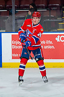 KELOWNA, BC - FEBRUARY 06:  Ty Smith #24 of the Spokane Chiefs warms up against the Kelowna Rockets  at Prospera Place on February 6, 2019 in Kelowna, Canada. (Photo by Marissa Baecker/Getty Images)
