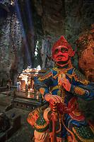 A statue lining the entrance to the Huyen Khong Cave on Nhuyen Son Mountain, Da Nang, VIetnam