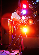 NEW YORK - JULY 27:  Singer and guitarist Dan Auerbach of Black Keys performs in concert at Central Park SummerStage on July 27, 2010 in New York City.  (Photo by Joe Kohen/WireImage for New York Post)